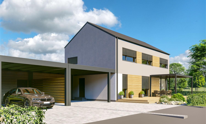 Novogradnja Pasivni montažni hiši v Domžalah 2