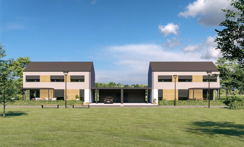 Novogradnja Pasivni montažni hiši v Domžalah 4