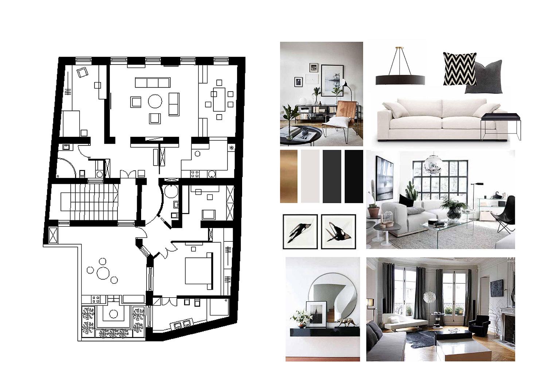 Idejna zasnova interierja stare meščanske hiše