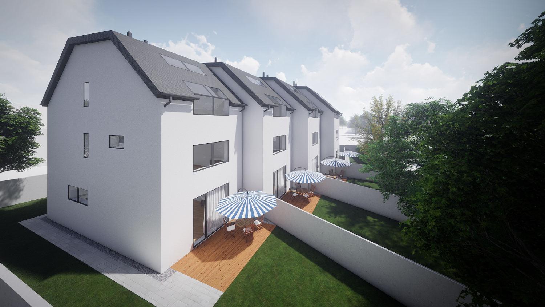 Novogradnja Vrstne hiše na Koleziji 2