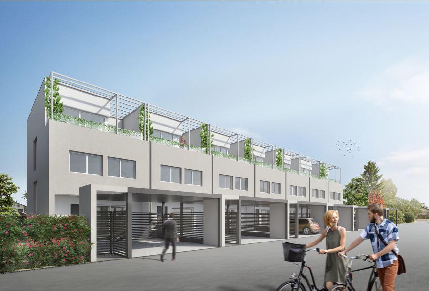 Novogradnja Vrstne hiše v trnovskem predmestju